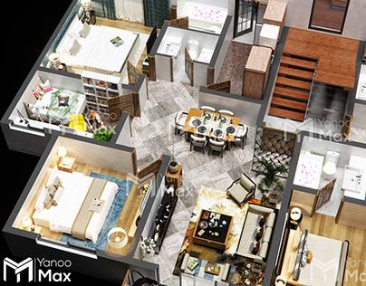 studio apartment on Behance