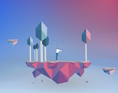 (In Progress)   Low Poly Art for VR app