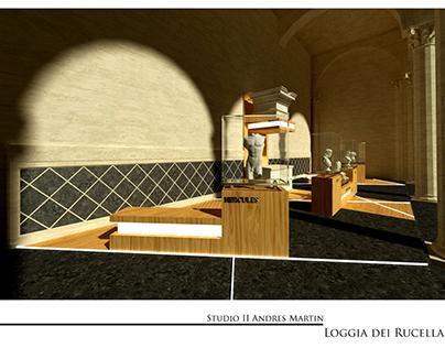 Loggia dei Rucellai - interior design studio project