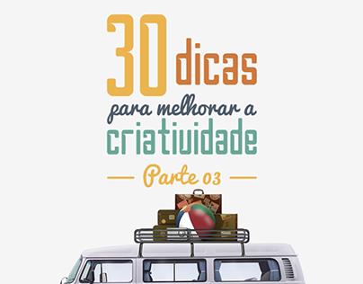 30 Dicas de Criatividade - Parte 03