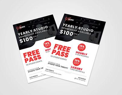 Studio Flyer Design in Illustrator
