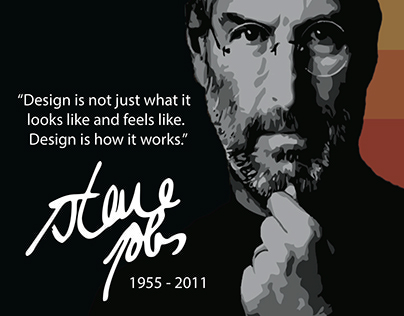 DES 16 Assignment 3 - Steve Jobs Tribute Poster