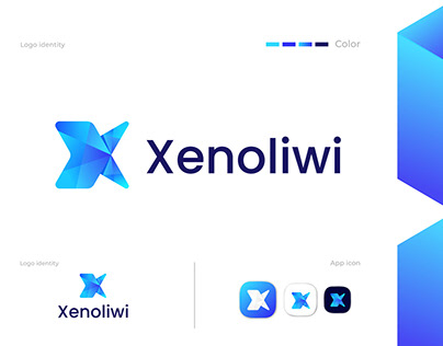 Modern X letter logo concept || Xenoliwi logo design