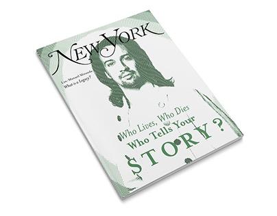 Photo treatment and magazine layout.