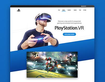 PlayStation VR Website
