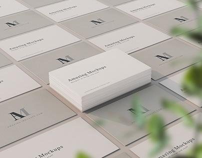 Freebie: Elegant Business Cards Mockup