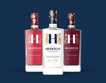 Highfield Gin Packaging