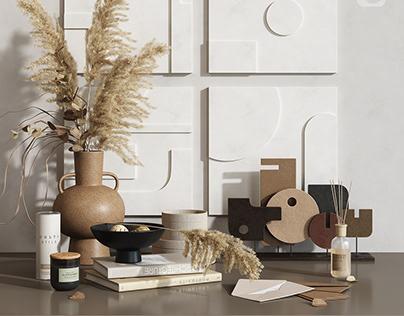 Gypsum panno decorative set