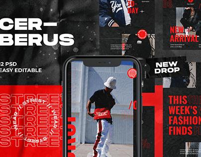 Cerberus Streetwear Instagram Template
