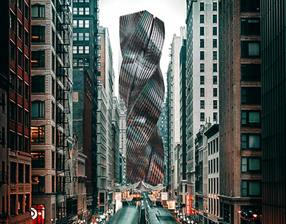 Twisting Tower in Chicago, USA by MB Architects
