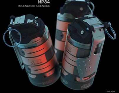 NP84 incendiary grenade
