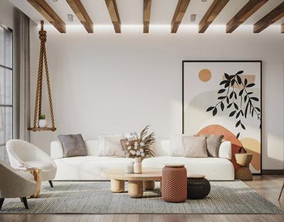 Living room (Wabi Sabi style)