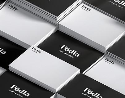 Podia -Footwear Store- Logo