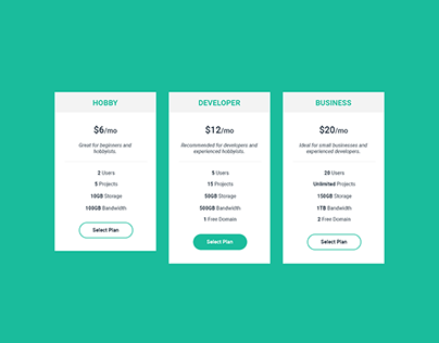 Pricing Table - 1