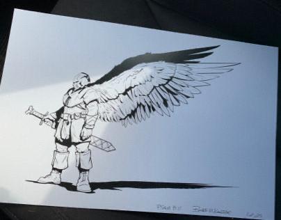"""PRINT - """"GRUNT ANGEL""""(PATREON Reward)"""