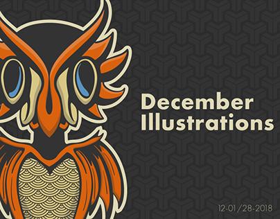December Illustrations
