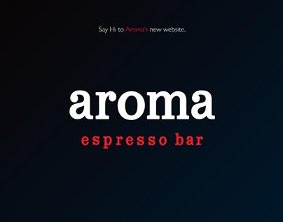Aroma Canada's new website.