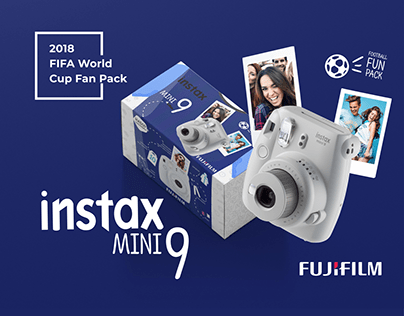 Fujifilm INSTAX mini 9 camera packaging series.