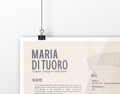 Curriculum Maria Di Tuoro