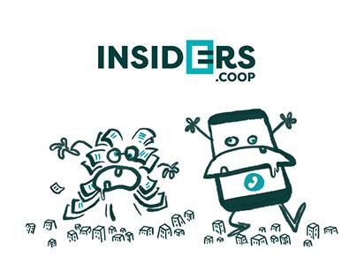 Logo et film de présentation insiders.coop