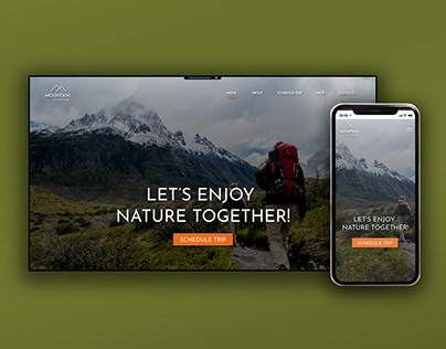Home page for a trail and footpath website. 🌲🌳