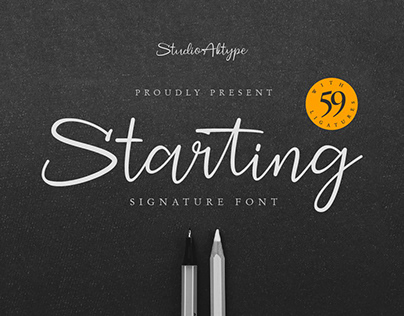 Starting Signature Font