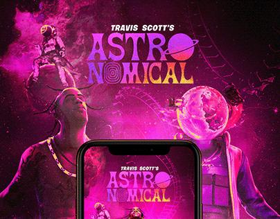 ASTRONOMICAL FAN ART - Travis Scott/Fortnite