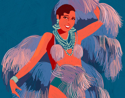 Josephine Baker - Illustrated portrait