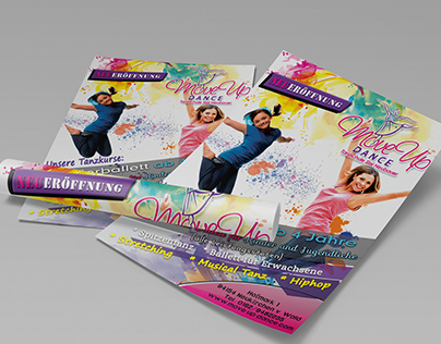 Dancing school flyer