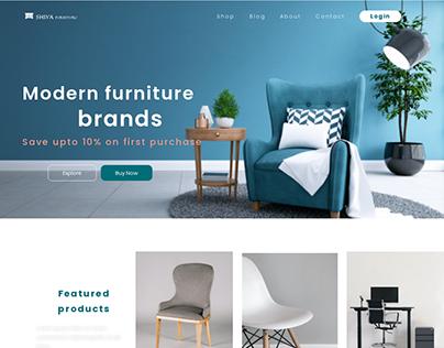 Furniture company landing page design