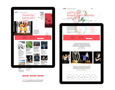 reSITE website design