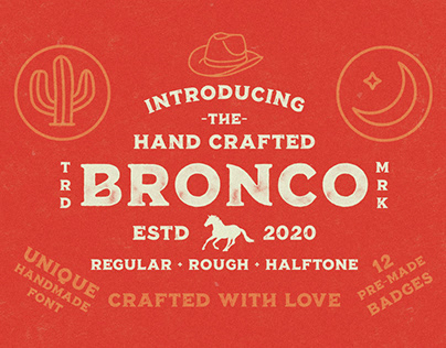 Bronco - Hand Crafted Font