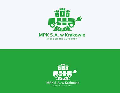 Logo MPK S.A. w Krakowie elektrycznych autobusów