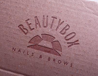 "logotype for beauty studio ""BEAUTY BOX"""