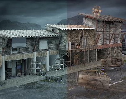 3D_village environment