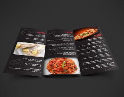 pizzeria brochure