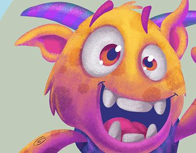 Monster illustration for a kids book
