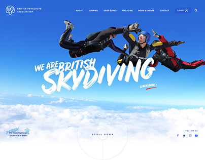 British Parachute Association - Website Concept