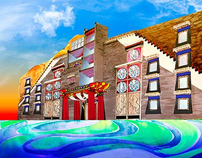 Tibetan artistic hotel conception