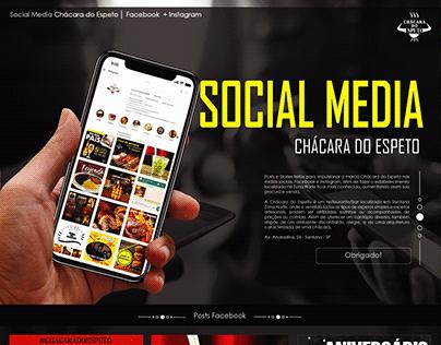 Social Media - Chácara do Espeto