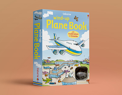 Wind up Plane-Book ©2009Usborne Publishing #airport