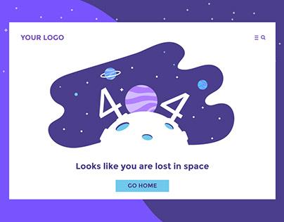404 Challenge - UX/UI design Concept