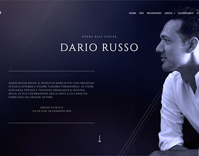 Dario Russo Bass Opera Singer | WEBSITE