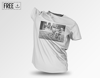 FREE DownloadFloating T-Shirt PSD Mockup