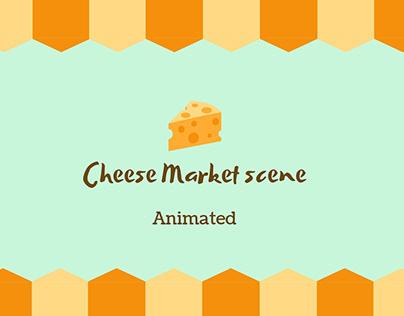 animated market