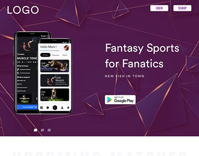 Fantasy Sports Landing Page