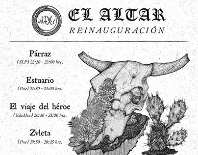 Flyer de tocada Altar / Altar gig flyer