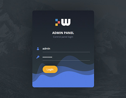 Login Form for Admin Panel