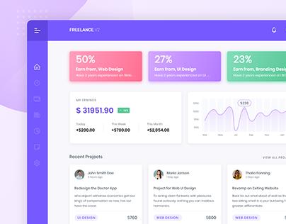 Freelancer Marketplace User Friendly Dashboard Design