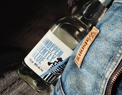 Independently Blue: rakia label design
